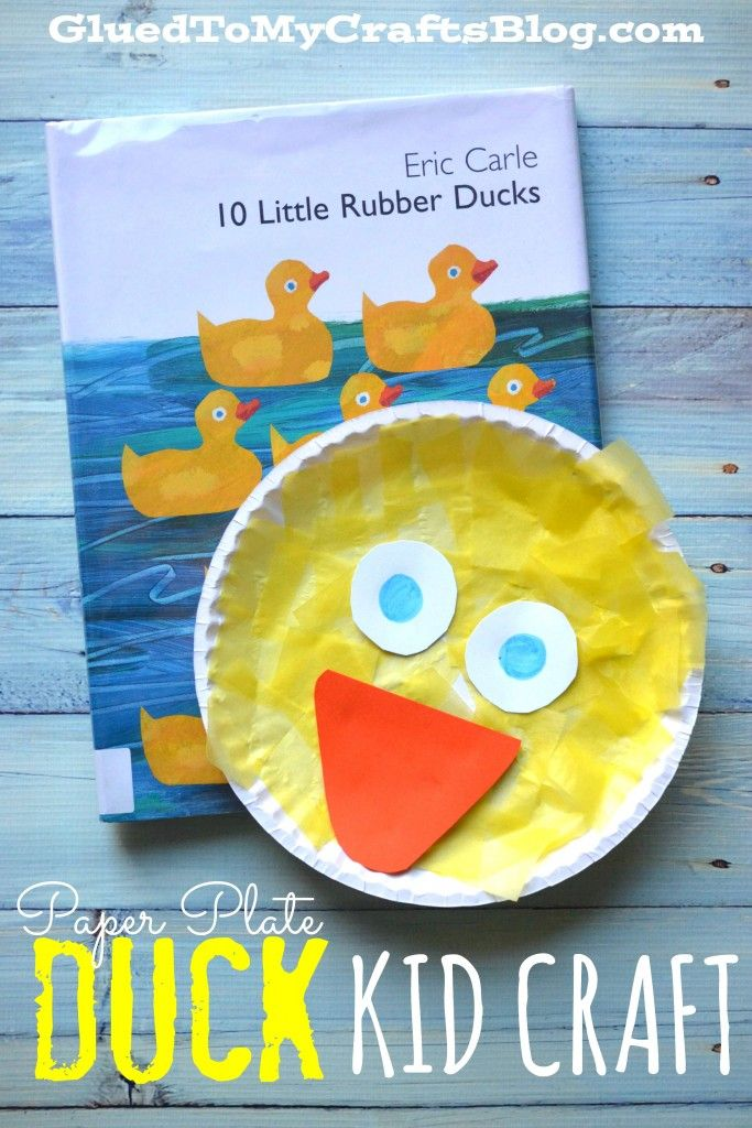 Tissue Paper Paper Plate Duck Kid Craft Idea For Story Time Eric Carle Crafts Storytime Crafts Preschool Crafts