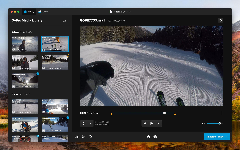 Gopro studio media library   Desktop UI   Pinterest