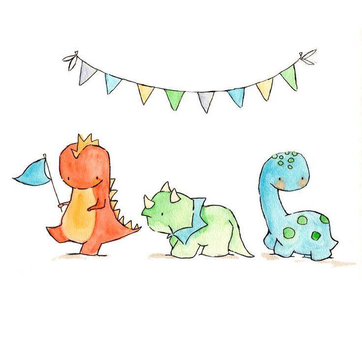 Dinosaur Parade -- Nursery Art Dragon, Dinosaur - #ART #Dinosaur #Dragon #nursery #Parade
