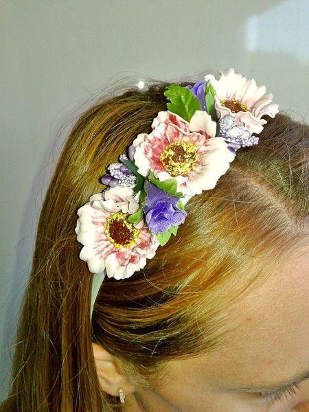 #Handmade #flower #hairband