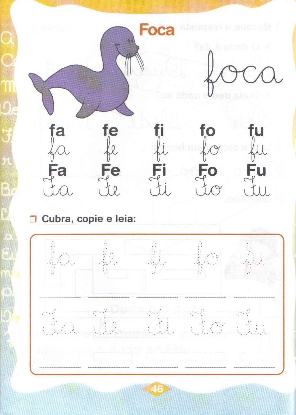 Silabas Fa Fe Fi Fo Fu Atividades Para Baixar E Imprimir Bela