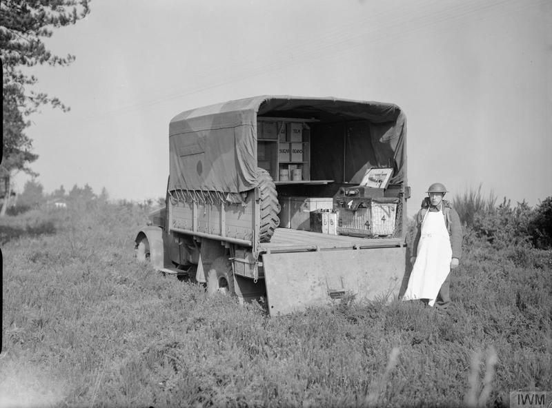 Bedford kitchen lorry and cook, part of 11th Field Ambulance ...