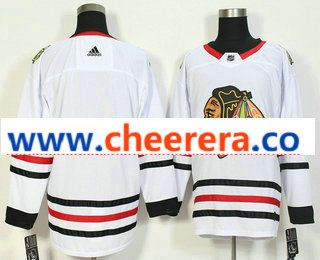 Men s Chicago Blackhawks Blank White 2017-2018 Hockey Stitched NHL Jersey 1d688c622