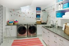 Whimsical Laundry Room Laundry Room Basement Laundry Room Room