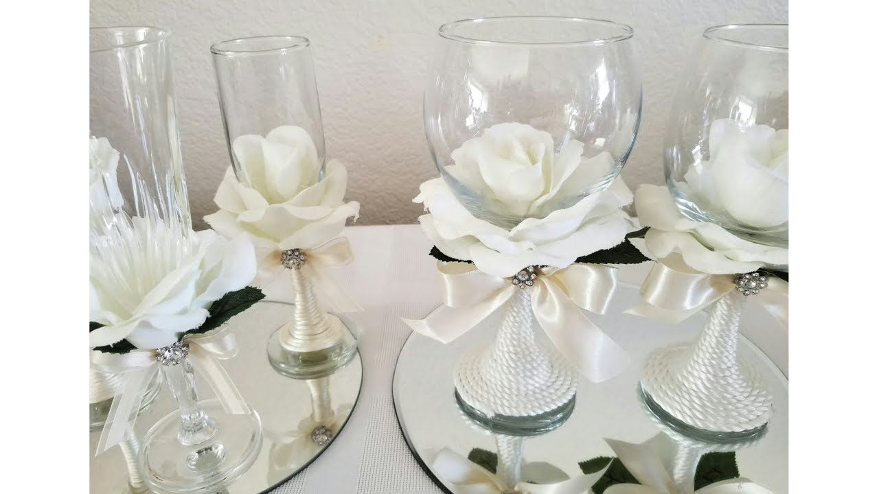 DIY| ROSE COVERED WINE GLASSES/ SOME DOLLAR TREE ITEMS | TOOTs 4 ...