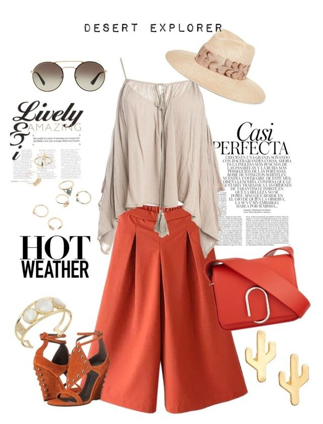 """""""#summeroutfits #dessert"""" by annabelle2222 on Polyvore featuring Whiteley, Sans Souci, 3.1 Phillip Lim, Giuseppe Zanotti, Eugenia Kim, Prada, CAM and House of Harlow 1960"""