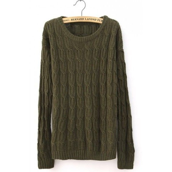 Euro Style Beige Cloting Ladies Long Sleeve Round Neck Slim Knitting... ($22) via Polyvore