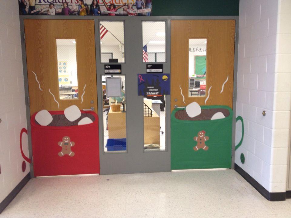 Hot Chocolate Classroom Doors & Classroom Door Decor- Hot Chocolate Mug. If I lived in snow globe ...