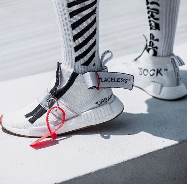 buy popular c4fa7 8596a OFF-WHITE x adidas Originals NMD City Sock Customs | Shoes ...