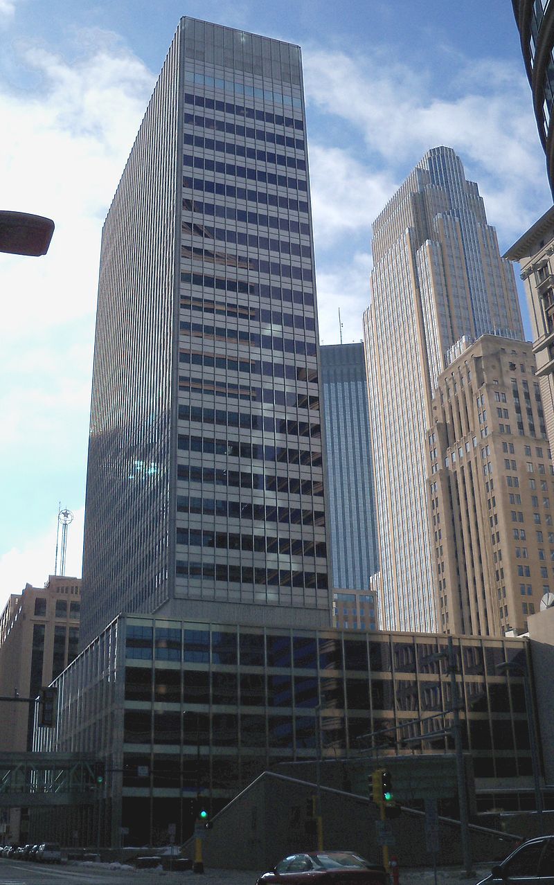 One Financial Plaza Minneapolis 1 List Of Tallest Buildings In Minneapolis Wikipedia List Of Tallest Buildings Building Riverside Plaza