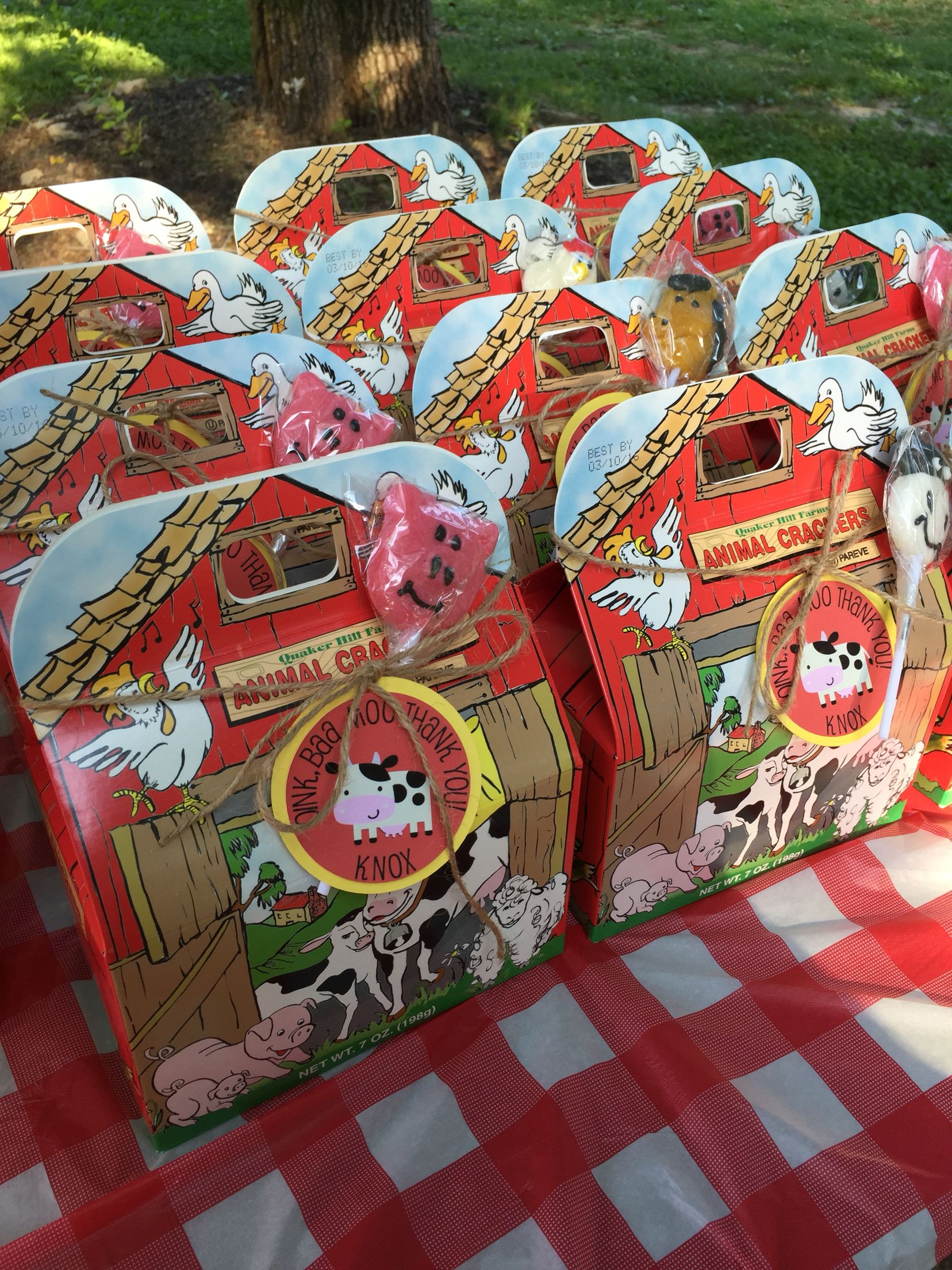 Farm Party Favors Animal Crackers From Puresfoods