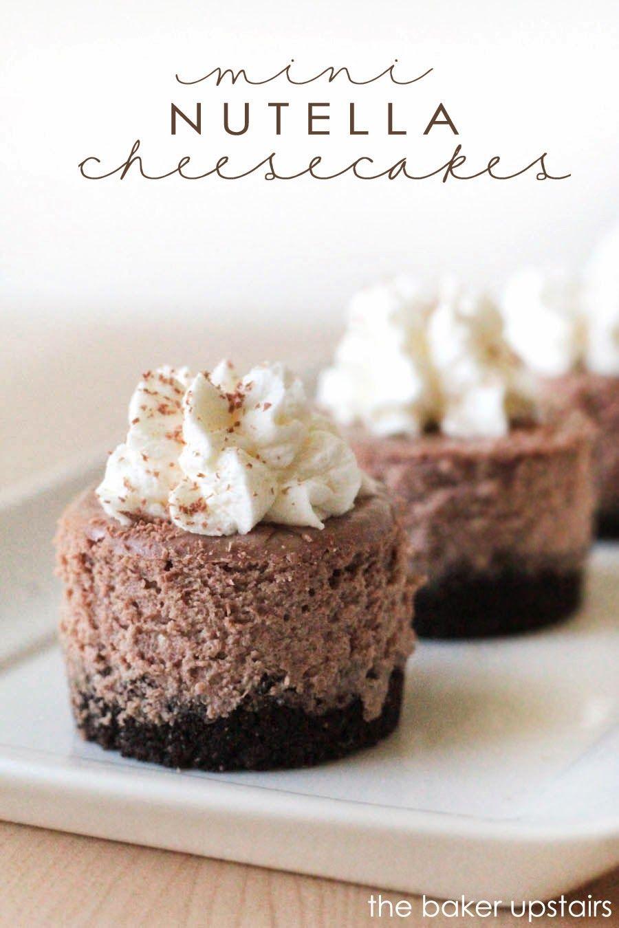 mini nutella cheesecakes chocolate peanut butter pinterest kuchen einfacher nachtisch and. Black Bedroom Furniture Sets. Home Design Ideas