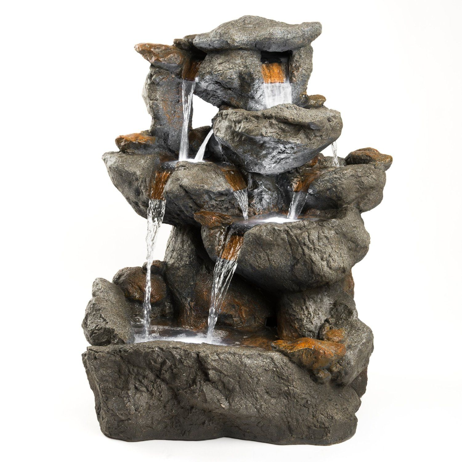 Amazon Com 33 Granite Rock Waterfall Fountain Outdoor Water