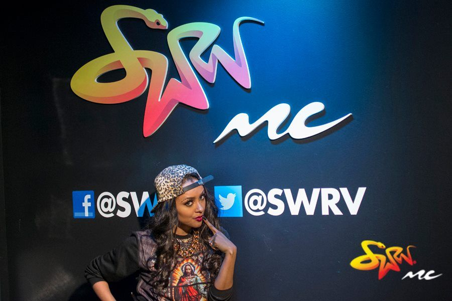 BTS PHOTOS! @KatGraham making a video to promote #wannasay at @SWRV Music Choice