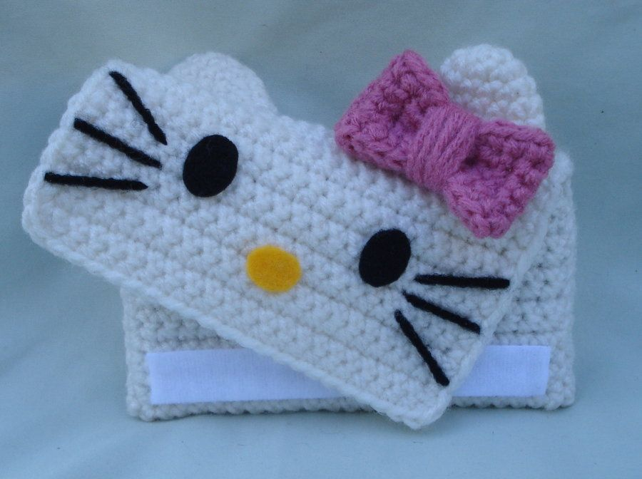 Crochet hello kitty phone case Pinned for Inspiration Via 4 by ...