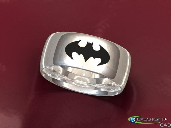 This Batrimonial Ring can be cast in silver, gold, platinum, or palladium. It can be made from 4mm-12mm wide and in sizes 4-13. The bat is