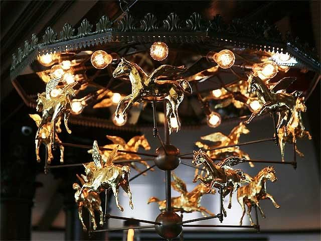 New yorks iconic restaurant tavern on the green reopens chandeliers horse chandelier tavern on the green nyc aloadofball Choice Image