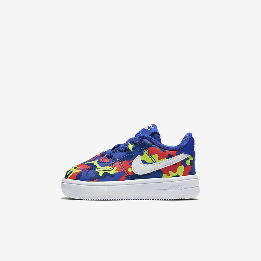fe7cac737d Nike Force 1 18 Print Infant/Toddler Shoe | Baby Love | Toddler ...