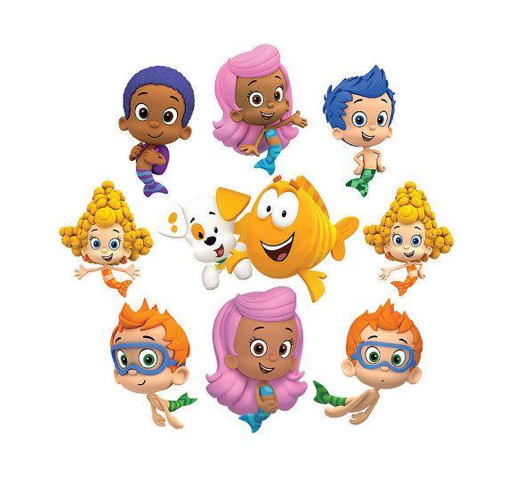 Lebistes De Burbuja 15 Imagenes Digitales Con Fondo Transparente Archivo Png Puede Imp Bubble Guppies Bubble Guppies Birthday Party Bubble Guppies Birthday