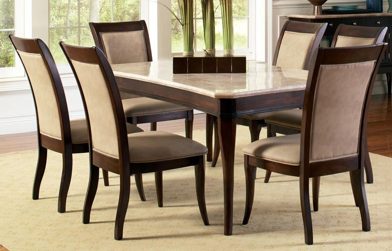 Top Contemporary Marble Top 8 Piece Dining
