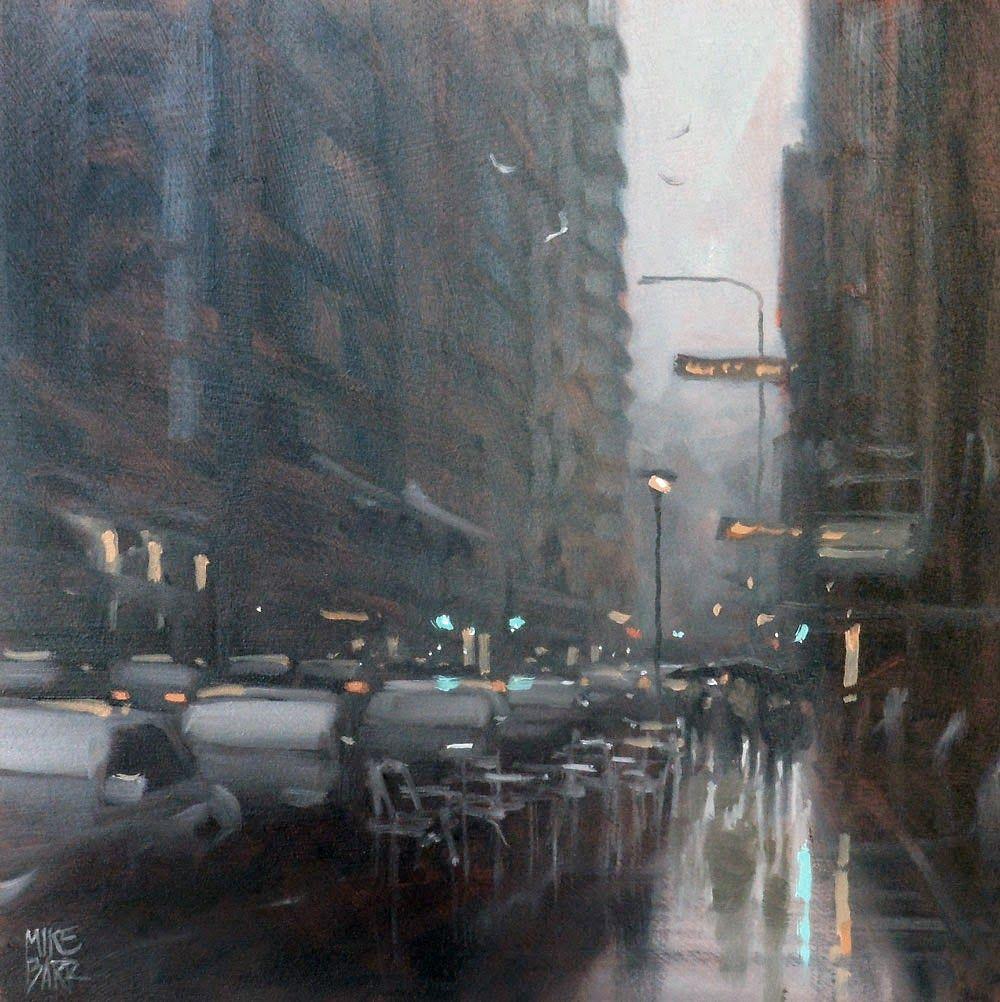 Mike Barr - Waymouth Winter City rain