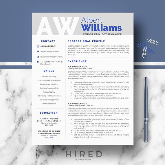 Professional Resume Template Modern Resume Cv Templates For Word
