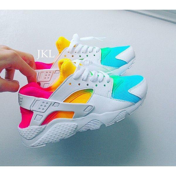 bf61377682c0d White Rainbows Nike Air Huarache Nike Huarache Tie Dye Summer Huarache...  ( 183