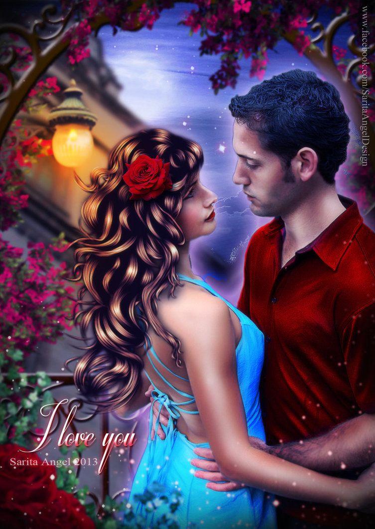 I Love You By Saritaangel07 Sarita Angel Art Angel Art I