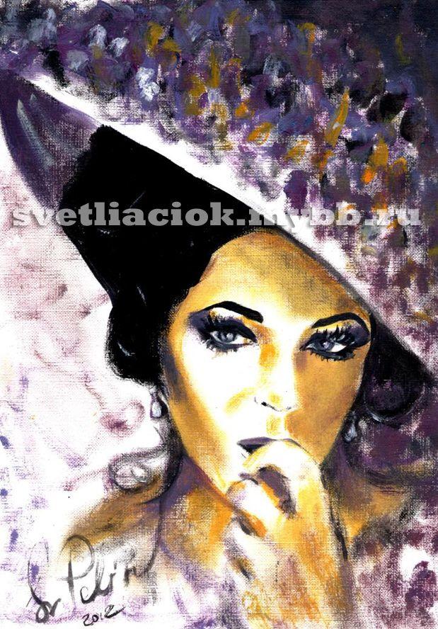 Elizabeth Taylor by Svetlana Pelin (svetliaciok)  #elizabethtaylor #painting #art #beautiful  #элизабеттейлор #рисунок #svetlanapelin #svetliaciok