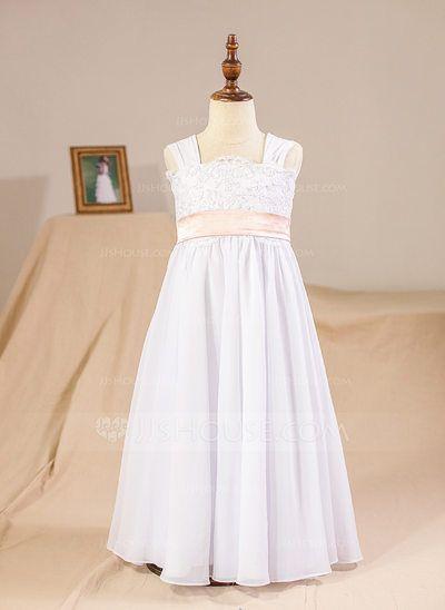d71c5ddf346b A-Line Princess Floor-length Flower Girl Dress - Chiffon Lace ...