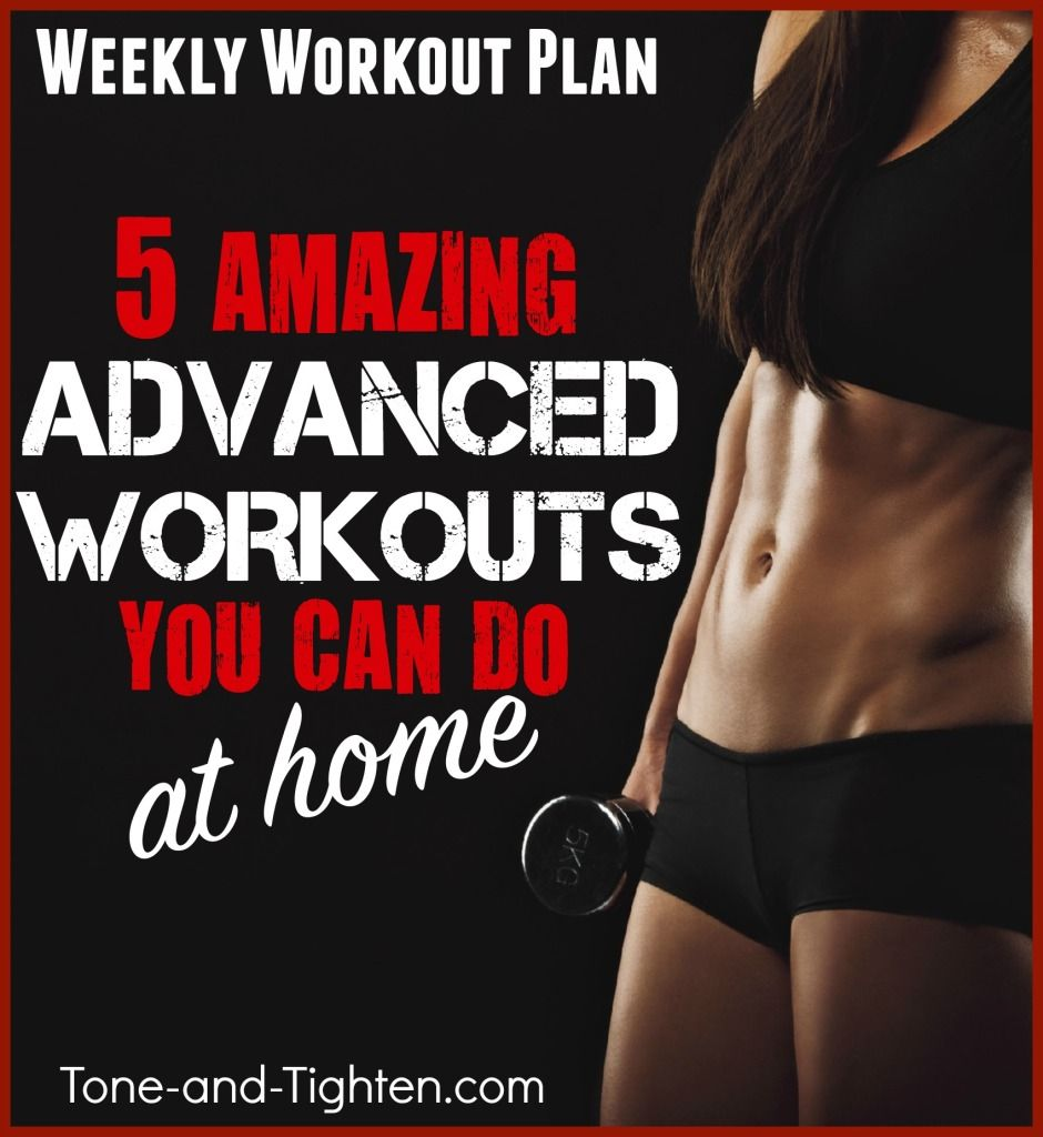 5 Days of advanced workouts you can do from home! Get them all on Tone-and-Tighten.com