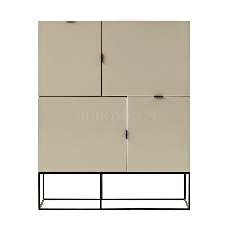 装饰柜/箱 板材框架+烤漆铁脚 F W1200*D411*H1500 mm