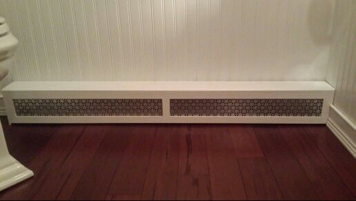 Made This Radiator Cover In Less Than An Hour I Used Lattice Strips And Chair Rail From Home Depot Then Glued On T Baseboard Heater Covers Home Radiator Cover
