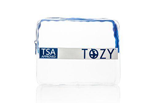 TOZY Premium 311 TSA Approved Clear CarryOn Quart Bag For Liquids * For more information, visit image link.