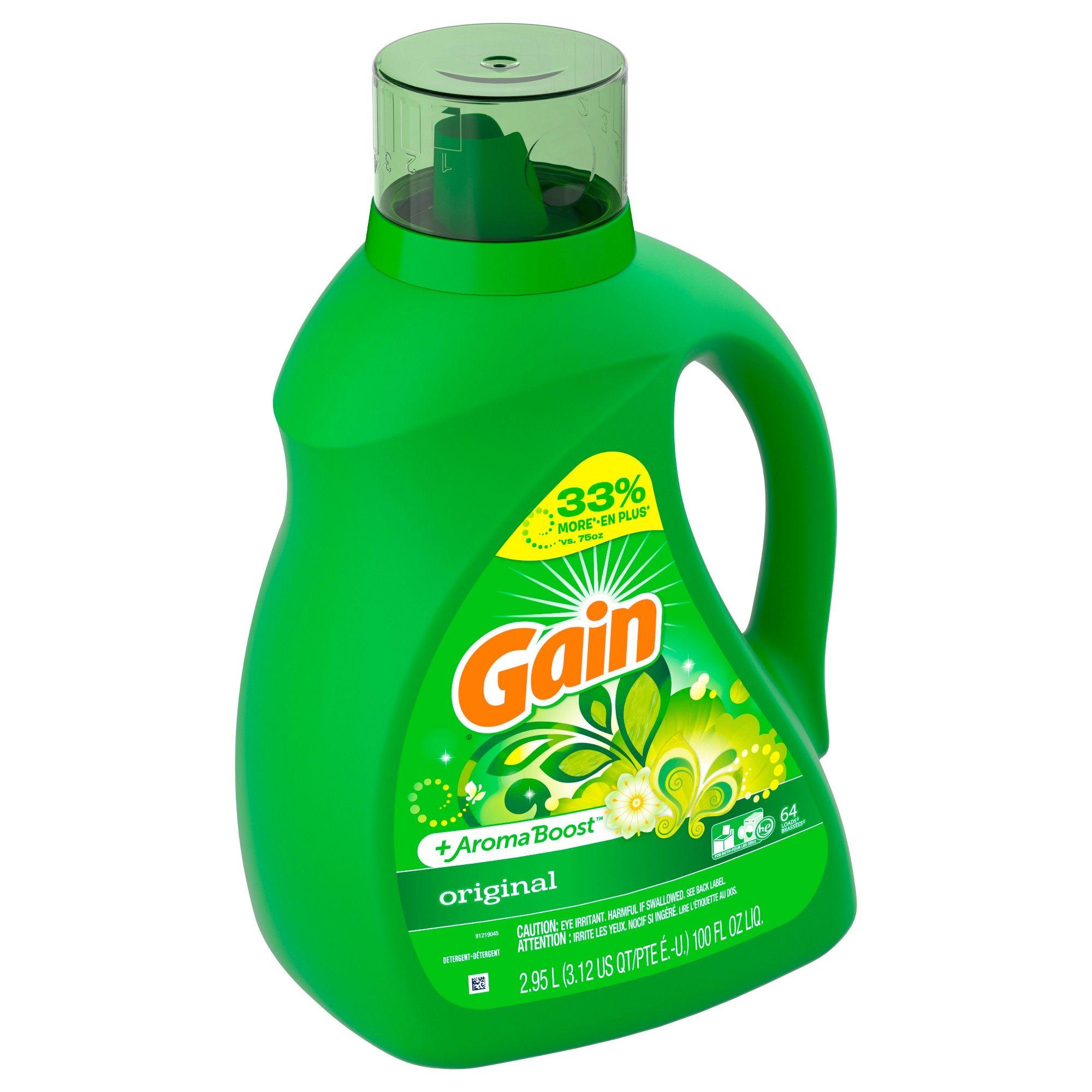 Gain Hec Original Liquid Laundry Detergent 100 Oz Laundry Liquid