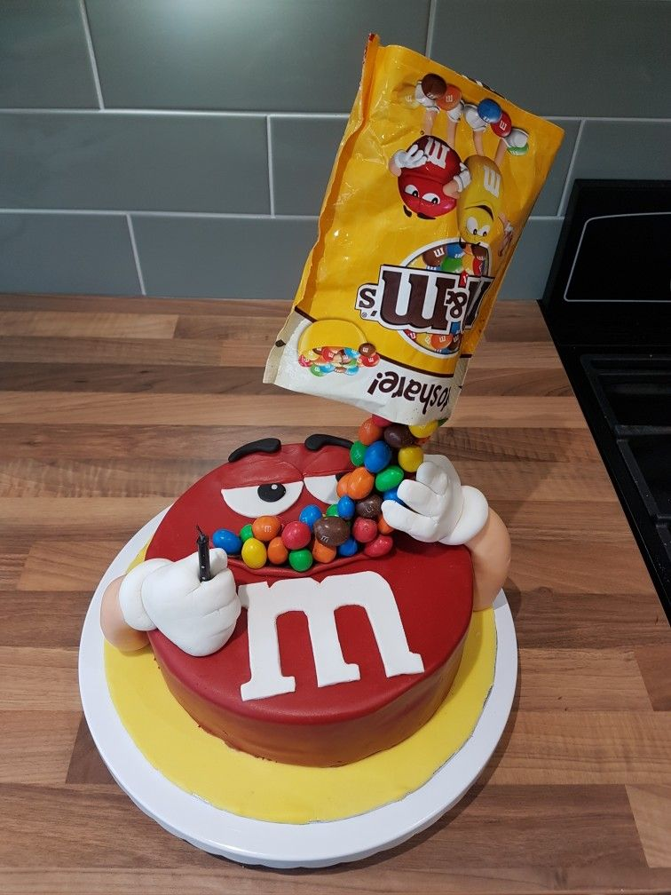 My Husband S 34th Birthday Cake He S A Peanut M M Fan Chocolate