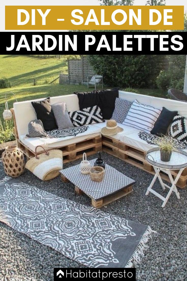 Salon de jardin en palettes : 8 idées déco originales  Meuble
