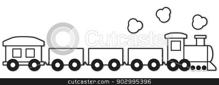 Vector Choo Choo Train Outline Stock Vector Kids Graphics Clip Art