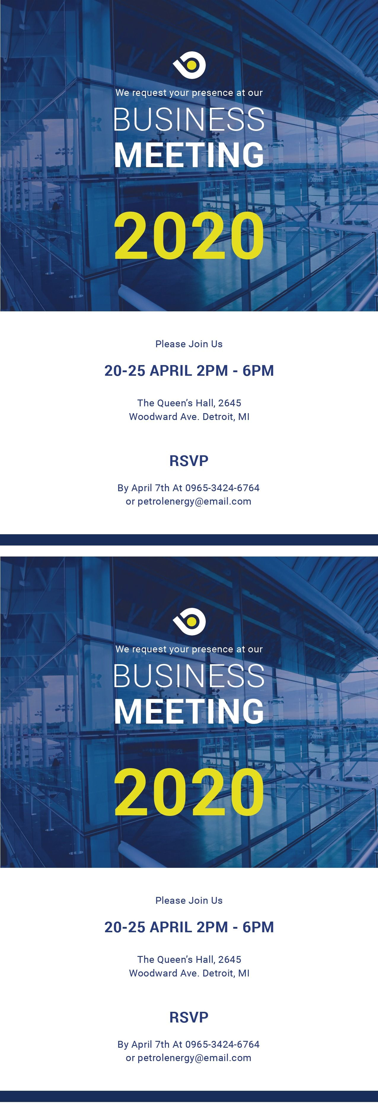 Free Business Meeting Invitation Anyvision Business Invitation