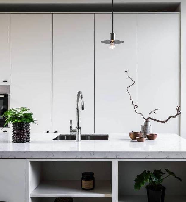 Large Kitchen With Black Accents  Via Coco Lapine Design Blog Fascinating Kitchen Design Blog Design Inspiration