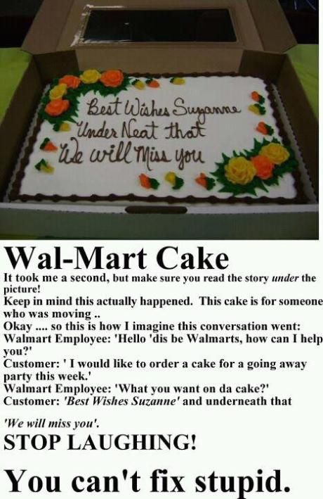 Taking Instructions Literally: The Walmart Cake :: blogitude.com