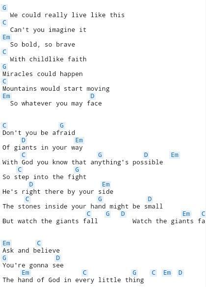 Giants Fall 2 Chords Pinterest
