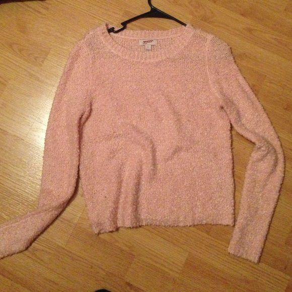 Light pink fuzzy sweater Super cute warm pink sweater. Not worn ...