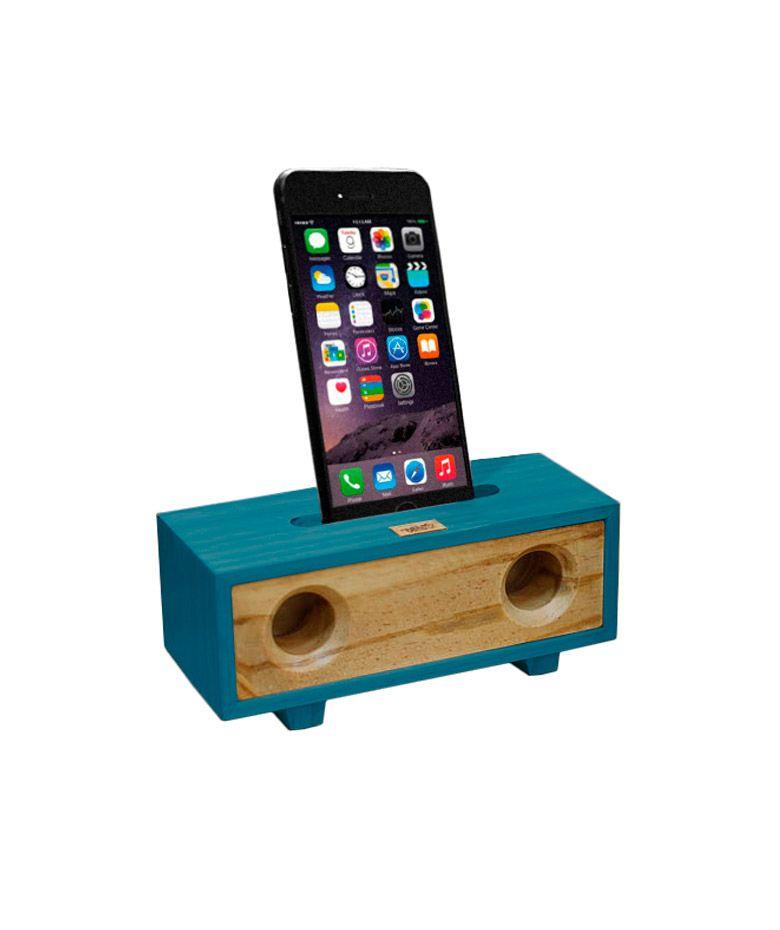 Amplificador Acústico Doble para iPhone color Azul VARTEZ