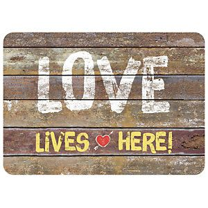 Bungalow Surface Love Rustic Sign Doormat