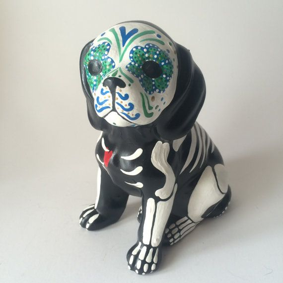 Day Of The Dead Dog Sugar Skull Puppy Pet Memorial Dia De Los