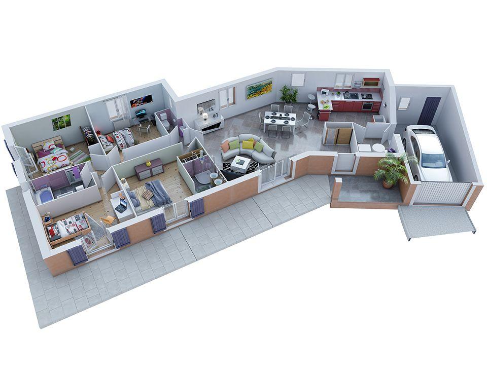 plan maison provenale modle ecrin gnoise villas trident - Plan Maison Ideale Feng Shui