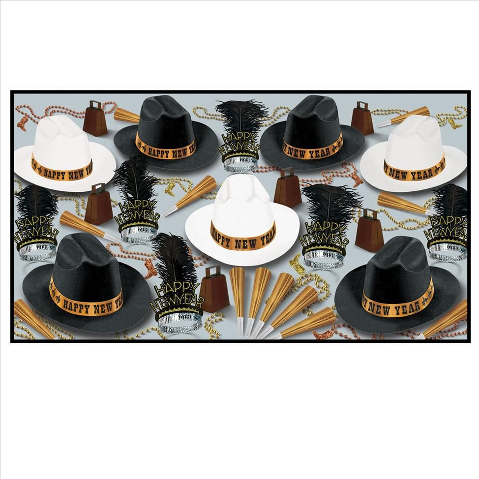 Western Nights New Years Eve Party Kit For 50 Party kit