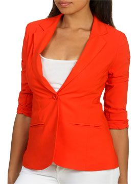 Ruched Sleeve Blazer from ArdenB.com