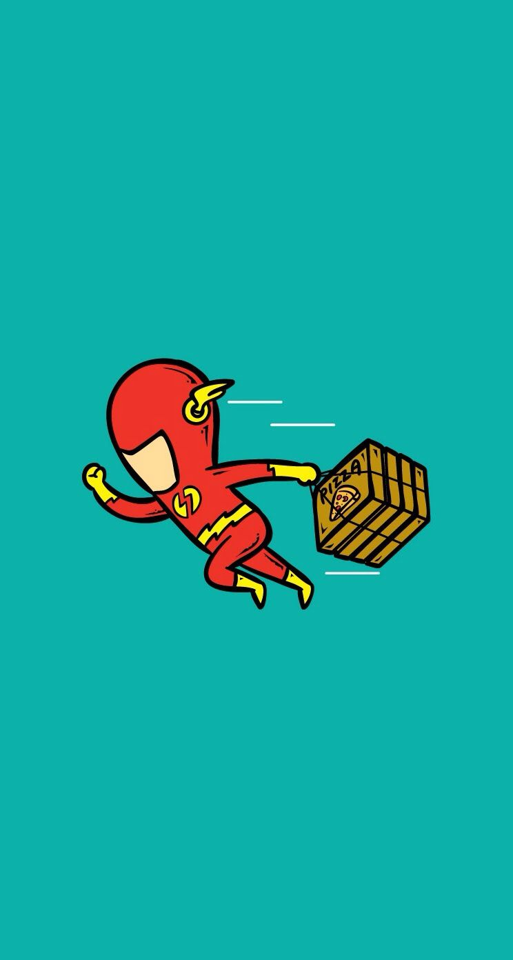 Flash Pizza BoyDownload Superheroes Part Timer IPhone Wallpapers